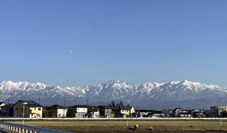 立山連峰がキレイです