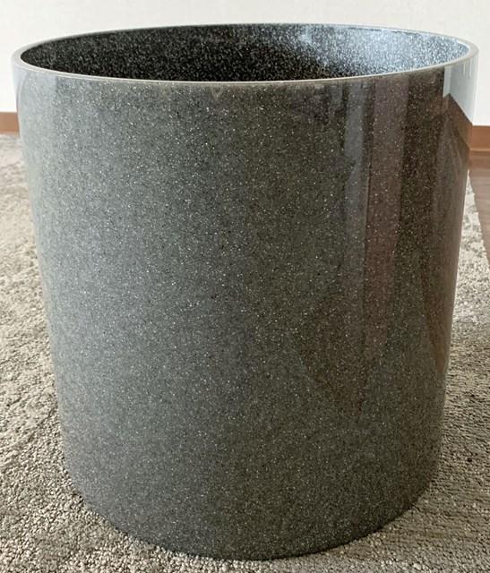 大理石プランター黒